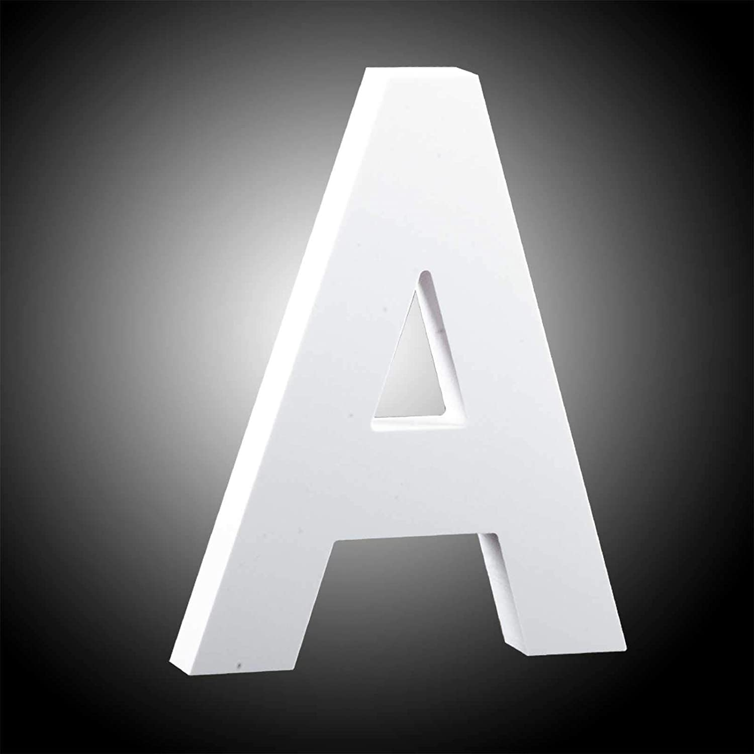GAKA White Wood Letter A Wall Letters Number Marquee Alphabet DIY Block Words Sign Hanging Decor Letter for Home Bedroom Office Wedding Party Decoration