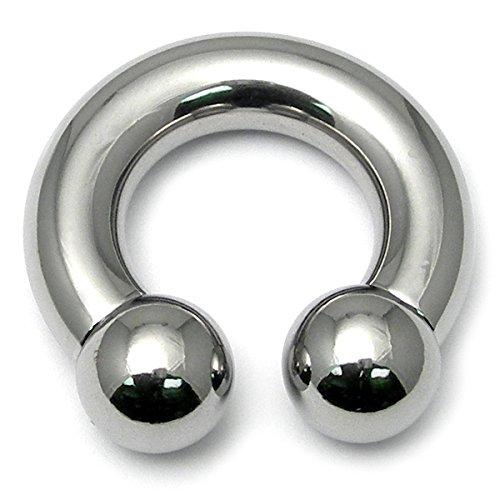 Barbell circulaire en acier chirurgical calibre CBB Horseshoe. de 6 mm à 14 mm de diamètre externe Thread. Idéal pour les oreilles/Génital/lobe/Sourcil-piercing et autres.