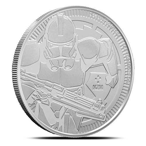 (NU 2019 CLONE TROOPER STAR WARS 1OZ .999 FINE COIN LIMITED MINTAGE of 250,000 Brilliant Uncirculated)