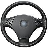 xuji steering wheel cover - Black Genuine Leather Steering Wheel Cover for BMW E90 2007-2011 BMW 335 I 4D Sedan / 2007-2011 BMW 335 XI 4D Sedan / 2007-2011 BMW 328 I 4D Sedan / 2007-2011 BMW 328 XI 4D Sedan / 2009-2011 BMW 335 d 4D Sedan / 2006 BMW 330 I 330 XI / 2006 BMW 325 I 325 XI 4D