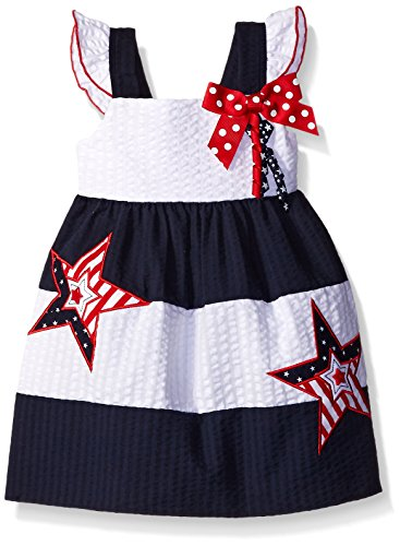 Seersucker Sundress (Baby Goodlad Baby Little Girls' Americana Seersucker Sundress, Navy, 18 Months)