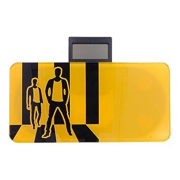 Báscula Digital de Precisión, Rango de Pesaje de hasta 150kg, Balanza de Baño Amarilla, Electrónica Rey®: Amazon.es: Electrónica