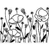 Darice Embossing Folder, 4.25 by 5.75-Inch, Poppy Field
