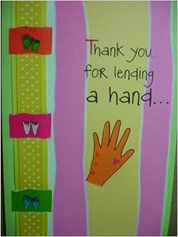 Thank you for lending a hand mountain arts greeting card blue mountain arts greeting card envelope blue mountain arts amazon books m4hsunfo