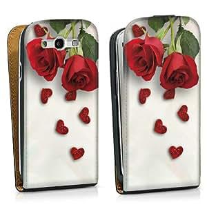 Diseño para Samsung Galaxy S3 i9300 / LTE i9305 DesignTasche black - Roses and Hearts