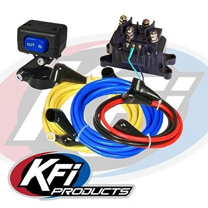 amazon com: universal atv winch 12v wiring kit by kfi products atv-wk:  automotive