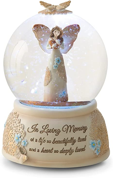 Pavilion Gift Company 19061 Light Your Way Memorial In Loving Memory Musical Water Globe 100mm Home Kitchen
