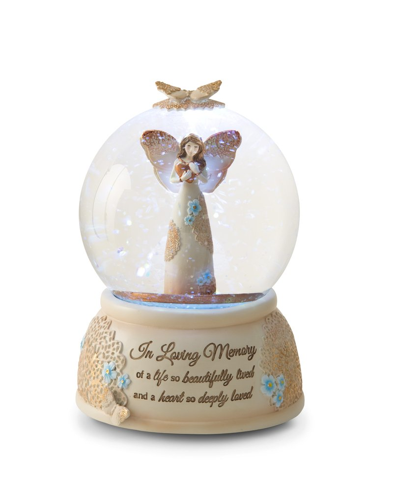 Pavilion Gift Company 19061 Light Your Way Memorial in Loving Memory Musical Water Globe, 100mm by Pavilion Gift Company