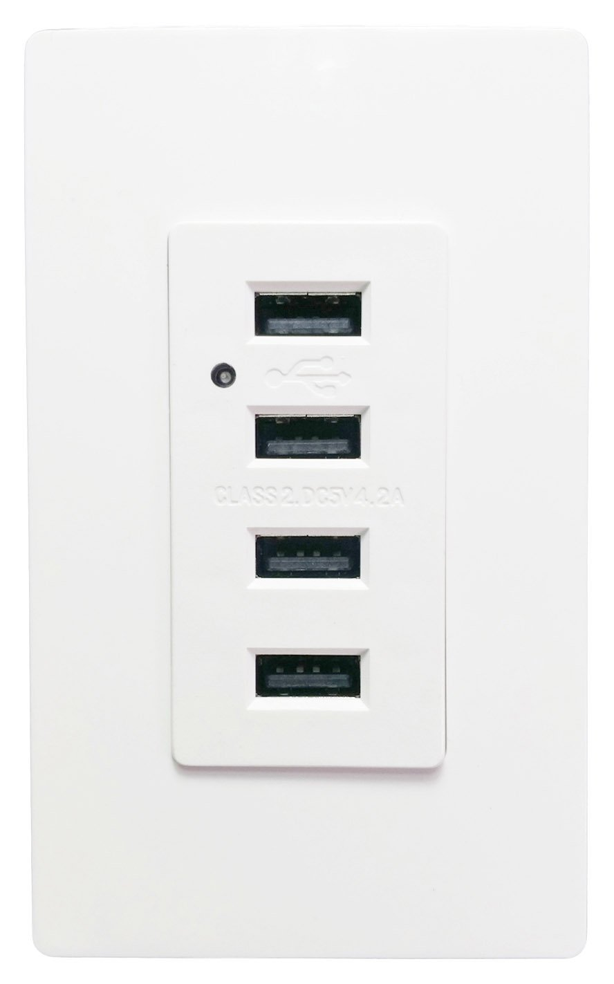 Seckatech 4 USB Ports Charger Wall Outlet, Smart High Speed ...