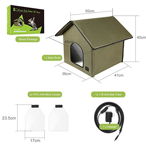 Mindkoo Pet House Kennel Hut Cat Dog Condo Tent ...  sc 1 st  Pet Supplies & Mindkoo Pet House Kennel Hut Cat Dog Condo Tent with Cozy Blanket ...