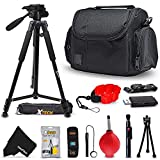 Premium Well Padded Camera CASE / BAG and Full Size 60' inch TRIPOD Accessories KIT for Samsung NX500, NX1, NX3000, WB2200F, WB1100F, NX30, NX, NX2000, NX1100, NX300, NX300M, EX2F Digital Cameras