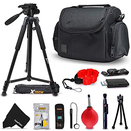 Deluxe Camera Accessories Kit for Canon, Nikon, Sony, Pentax, Fuji Digital & DSLR Cameras – Includes Deluxe Camera Case/Bag, 60′ inch Tripod, Memory Card Holder, 5 Piece Cleaning Kit + More