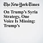 On Trump's Syria Strategy, One Voice Is Missing: Trump's | Peter Baker,Gardiner Harris
