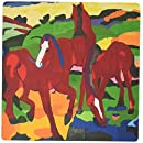 3dRose LLC 8 x 8 x 0.25 Inches Mouse Pad, Photo of German Cubist Painter Franz Marc Red Horses Pd-Us (mp_100507_1)