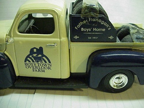 (Ertl Die Cast 1951 Ford Truck Bank Boys Town Overlook Farm Father Flanagan's Boy's Home.)