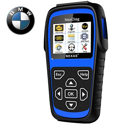 Diagnostic Scanner Tool Automotive Scanner for BMW MINI, NEXAS ND601 OBD II OBD2 Scanner Multi-System Fault Code Reader for Engine/Transmission/ABS/SRS/EPB/DPF Regen/Battery Register/SAS & Oil Reset ...
