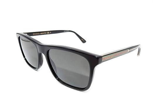 0fb695cc1e8 Image Unavailable. Image not available for. Color  Authentic GUCCI  Polarized Black Sunglasses ...