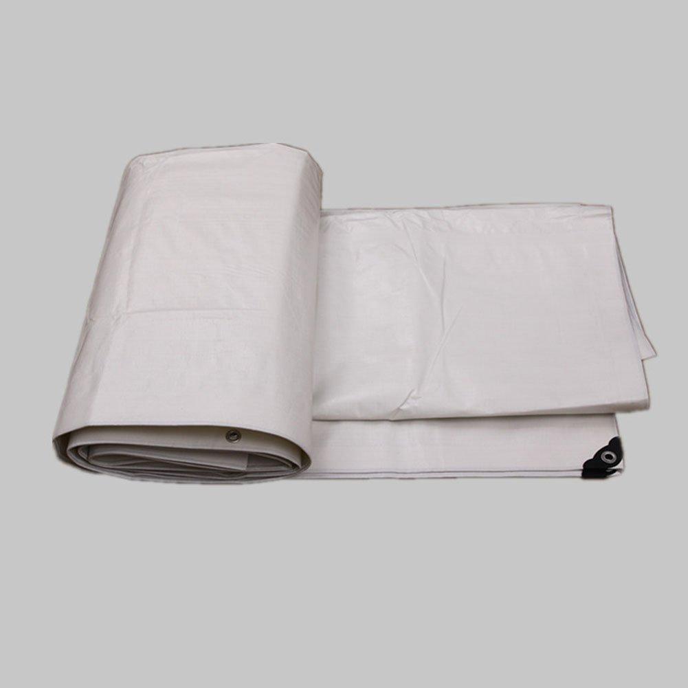 YHUJH Regenschutztuch wasserdicht Plane wasserdicht regendicht Tuch Tuch Auto LKW Plane im Freien Sonnenschutz Sonnencreme Antioxidans, weiß (Farbe   A, Größe   7 x 8m)