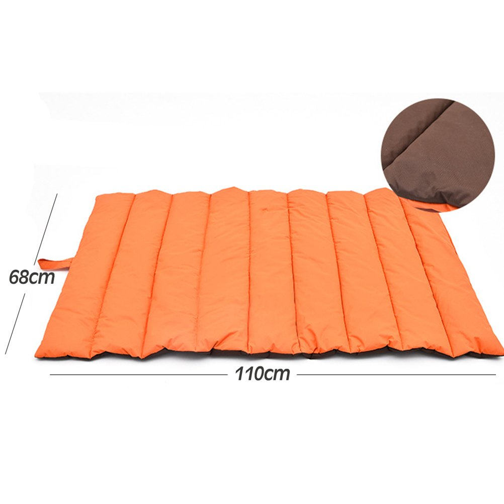 Amazon.com : UEETEK Pet Bed Mat Dog Portable Waterproof Mat Dog Blanket Large Soft Bed Pad for Indoor Outdoor Travel (Orange) : Pet Supplies