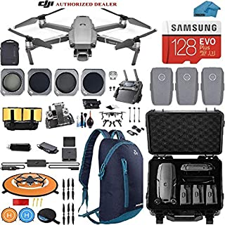 DJI Mavic 2 Pro Drone Quadcopter with Fly More Combo, Waterproof Hard Case and Backpack, Hasselblad Camera, 3 Batteries, ND Filters, Tablet Mount, 128GB SD Card, Landing Pad, Bundle Kit
