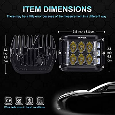 KAWELL Dual Side Shooter Led Cube 45W Led Work Light Off Road Led Light Bar Driving Light Super Bright for Jeep Boat Truck Car ATVs: Automotive