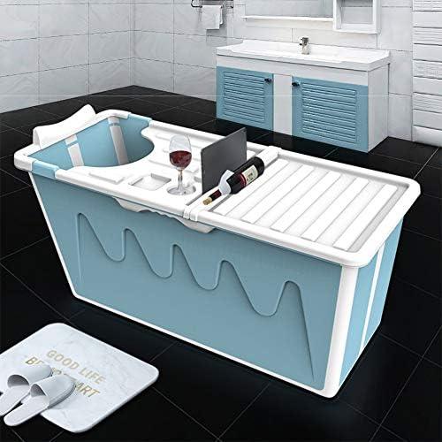 Folding Bathtub Tragbare Kunststoff-Badewanne Verdickte Spa-Badewanne Freistehende Badewanne Nicht Aufblasbare Eisbadewanne F/ür Kinder Erwachsene Faltbare Badewanne Erwachsene Mobile Badewanne
