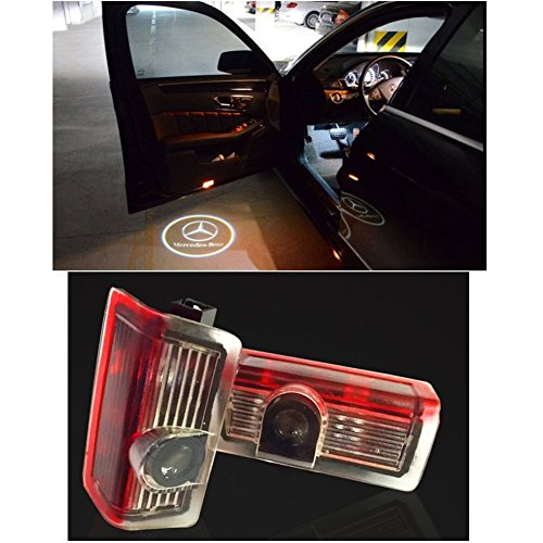 Cszlove LED Projection Logo Ghost Shadow Car Door Welcome Light DIY Step Light Symbol Sign Badge for Mercedes Benz E A B C ML Class W212 W166 W176 - 1 Pair