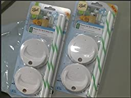 Ball 1440015010 Wide Mouth Mason with Sip and Straw Lids (2)