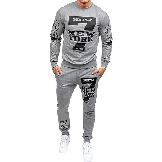 ♚Chándal de los Hombres Otoño, Sudadera con Estampado de Invierno Pantalones Top Sets Sports Suit Absolute: Amazon.es: Ropa y accesorios