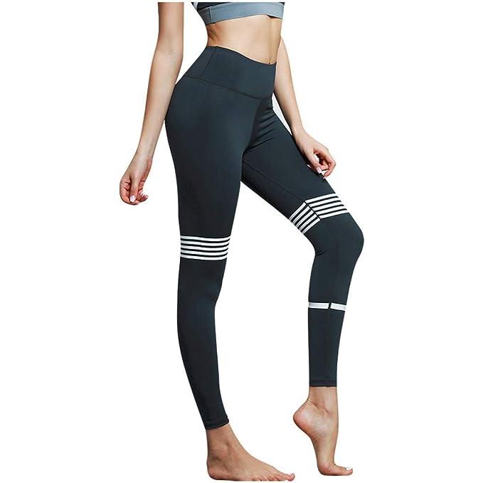 Amazon.com: Pantalones de compresión de cintura alta, para ...