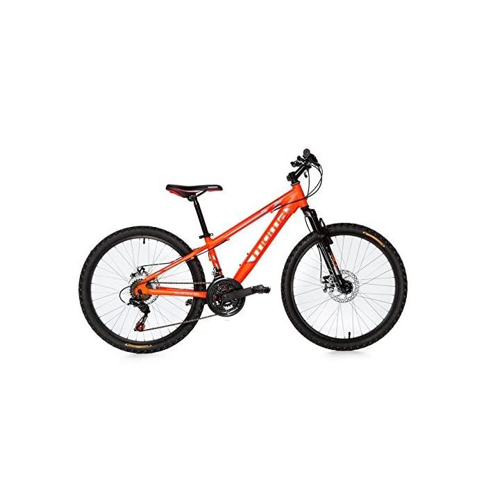 Moma Bikes Bicicleta Infantil, Montaña  GTT24″, Alu, SHIMANO 21V. Doble Freno Disco, Susp. Delant.