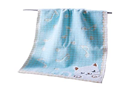 kxrzu Gracioso Cartoon Cat Cotton Absorbent Baby Toalla de Saliva Wash Tow Towe Square Toalla para