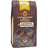 Christopher Bean Coffee Flavored Decaffeinated Ground Coffee, Bavarian Chocolate Cake, 12 Ounce