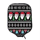 YOLIYANA Christmas Durable Racket Cover,Nordic Norwegian Traditional Retro Patterns Hearts Snowflakes Santa Trees Print Decorative for Sandbeach,One Size