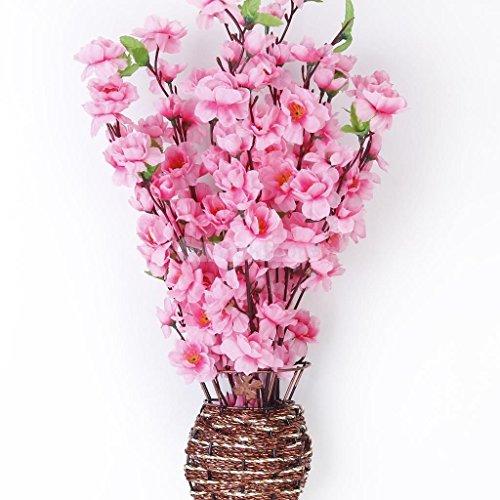 Artificial Spring Peach Blossom Cherry Plum Bouquet Branch Silk Flower
