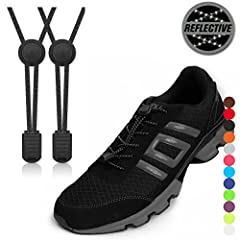 Get rid of loose laces with no tie shoelaces with lock system. These shoelaces do not just keep your shoes on, they also provide a secure, supported fit. AMAZING FEATURES: - Made of high quality elastic cords with a stainless steel spring in ...