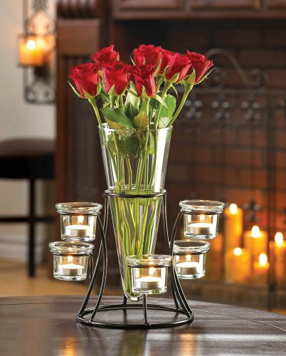 10015367 Wholesale Circular Candle Stand with Vase Home House Figure Model Decor Decoration Outdoor Front Yard Frontyard Home House Grass - Vase Figure