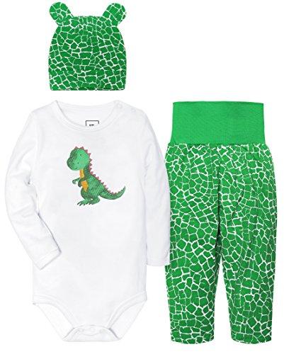 Baby Boys' 3 Piece Bodysuit, Cap and Pant Set Unisex Gift Set (Infant Boys 3 Piece)