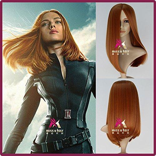 Captain America 2 Black Widow Wig