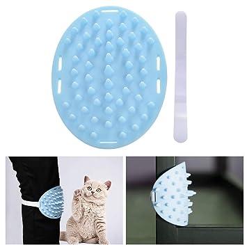 Urijk Cepillo de aseo para gatos, pernos de silicona suave Cepillo de baño para gatos