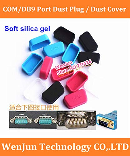ShineBear Wholesale!! Soft Silica Gel COM dust Plug DB9 dust Cover RS232 Anti-Dust Stopper for Laptop/Computer/Router with - (Cable Length: 1000pcs, Color: Blue) by ShineBear
