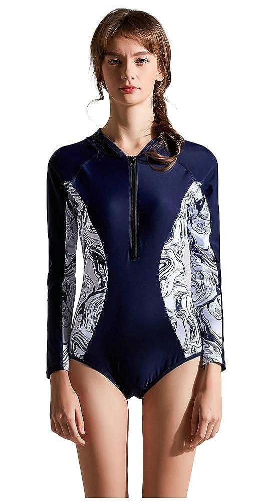 ilishop Rash Guard Women/'s UV Sun Protection Long Sleeve Wetsuit Swimsuit Top Dress