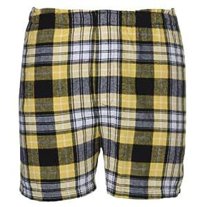 Boxercraft Adult Classic Flannel Boxers - Black/Gold - S
