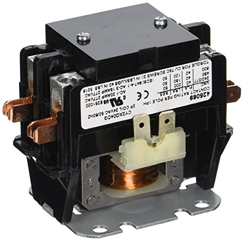 Protech 425069 40 Amp 2-Pole Contactor with 24V Coil Amps 2 Pole 24 Coil