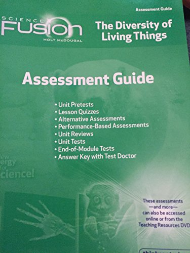 ScienceFusion Assessment Guide Grades Book By Holt McDougal