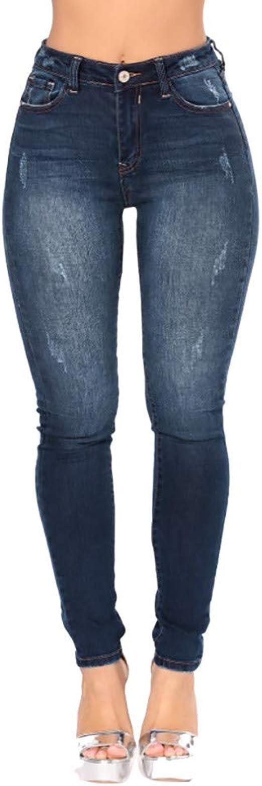 Women Skinny Flare Denim Jeans Retro Bell Bottom Stretch Pants Trousers US 8-14
