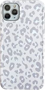 Cold Gray INS Leopard Print Soft Case for Apple iPhone 11 Pro Max 6.5 inch with Fashion Frame Cute Design Skin Cellphone Protective Cover for iPhone 11 Pro Max Cases