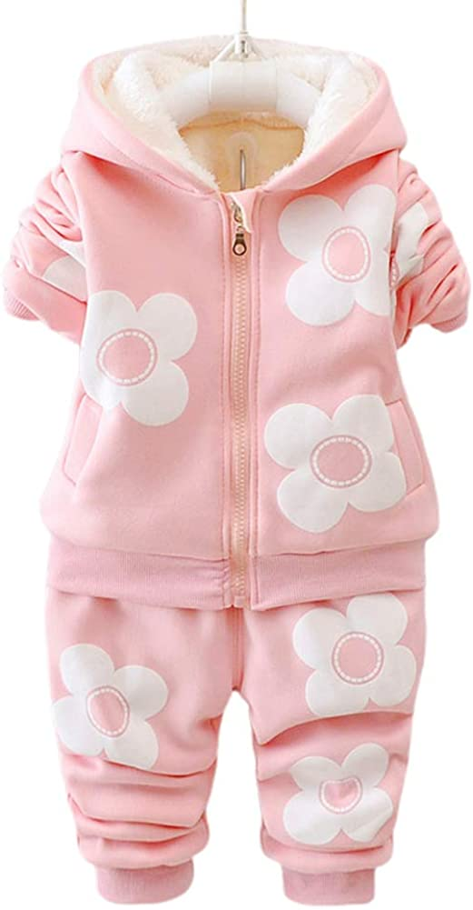 MeterMall Children Ourdoor Clothes Three Flowers Simier Two-Piece Suit for Baby Girls