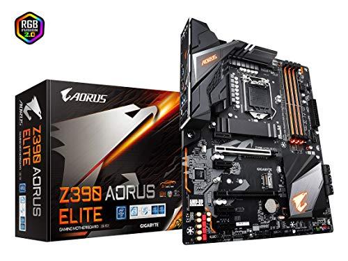 - Gigabyte Z390 AORUS Elite (Intel LGA1151/Z390/ATX/2xM.2/Realtek ALC1220/RGB Fusion/Gaming Motherboard)