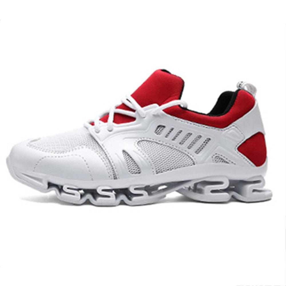 Zapatos De Trail Running para Hombre Al Aire Libre Antideslizante Zapatos De Verano Casual Zapatillas De Moda De Malla Transpirable 44 EU|White